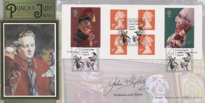 Self Adhesive: Punch & Judy, Prof John Styles signed