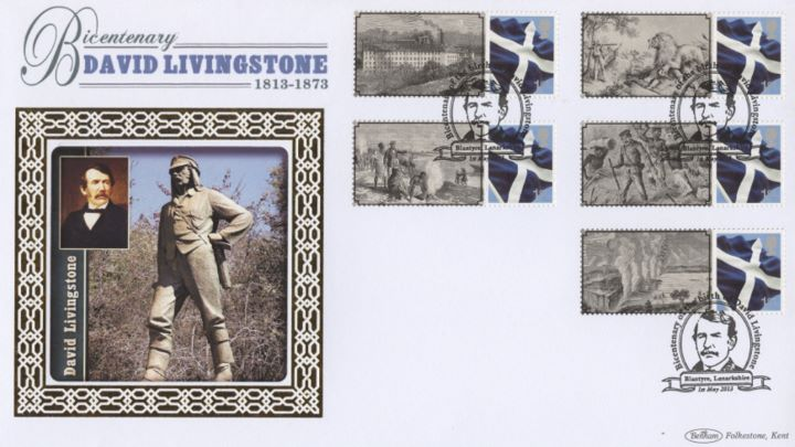 David Livingstone [Commemorative Sheet], David Livingstone Statue