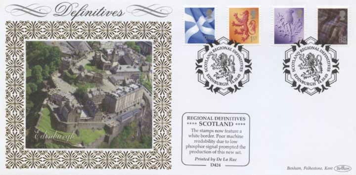 Scotland (white borders) 2nd, 1st, E, 68p, Edinburgh