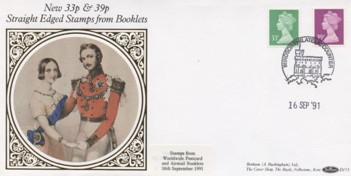 Window: Airmail: £1.32, Queen Victoria & Prince Albert