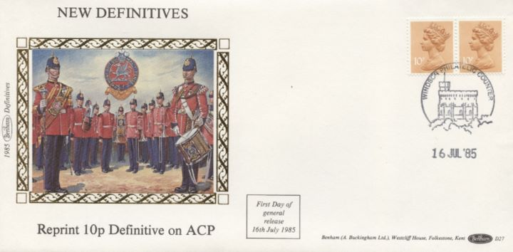 Machins: 9p, 9 1/2p, 10p, 10 1/2p, 11p 20p, Reprint 10p Defin on ACP