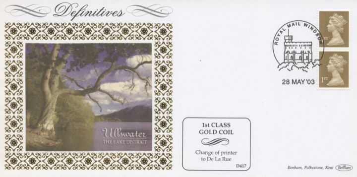 Machins (EP): Gold Stamps: 1st Self Adhesive, Ullswater