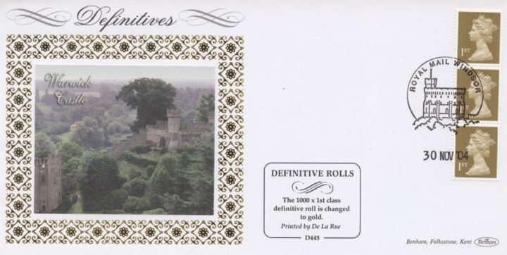 Machins (EP): Gold Stamps: 1st Self Adhesive, Warwick Castle