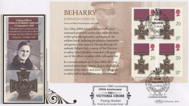 PSB: Victoria Cross - Pane 4, Donald Edward Garland