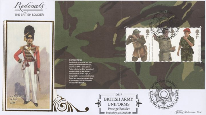 PSB: Army Uniforms - Pane 2, 1st Regiment of Foot