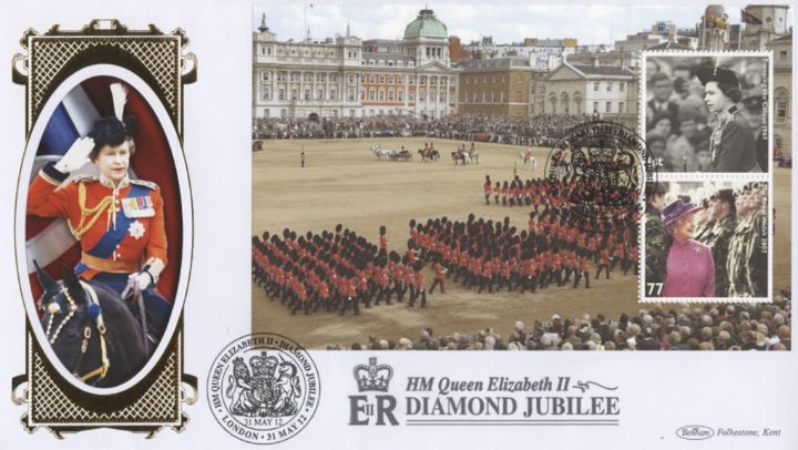 PSB: Diamond Jubilee - Pane 2, HM The Queen on Horseback