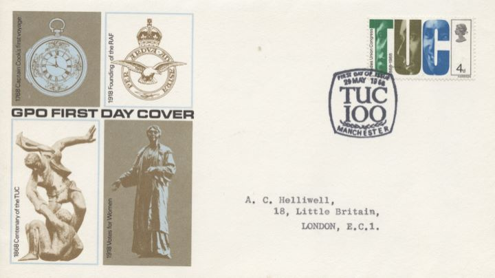 British Anniversaries, TUC Stamp