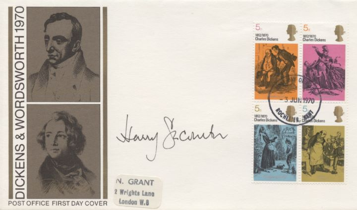Literary Anniversaries 1970, Harry Secombe Signed