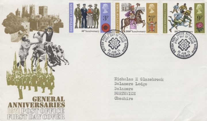 General Anniversaries 1971, Full Set & Single Stamp Covers