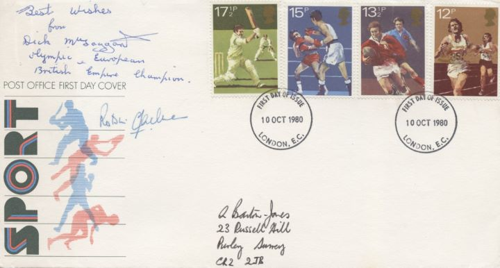 Sports Centenaries, Signed Cover