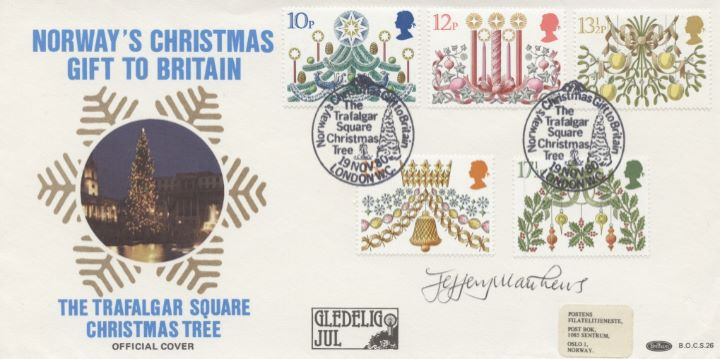 Christmas 1980, Signed Cover