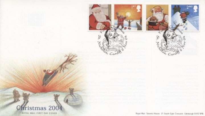 Christmas: Generic Sheet 2004, Special Handstamp