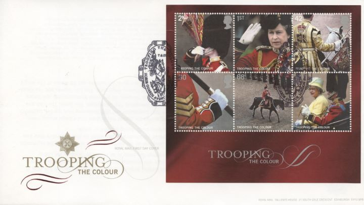 Trooping the Colour: Miniature Sheet, Special Handstamps