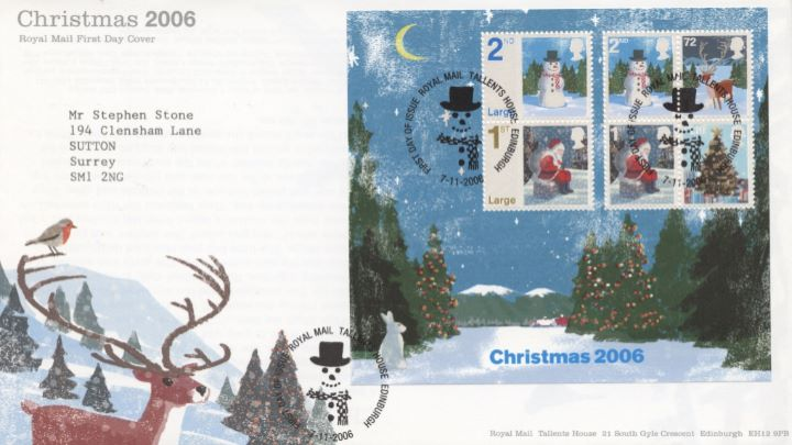 Christmas 2006: Miniature Sheet, Special Handstamp
