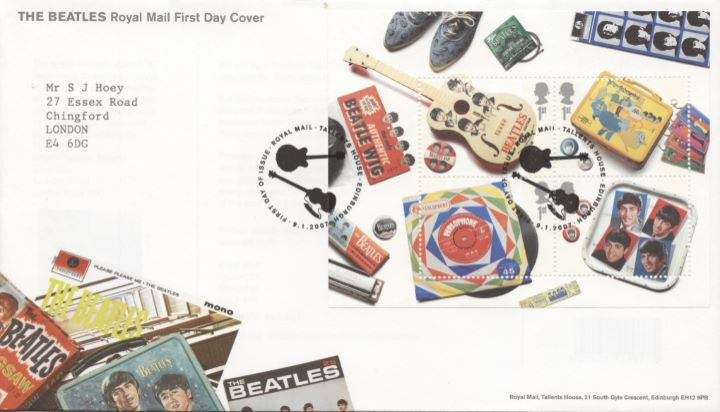 The Beatles: Miniature Sheet, Special Handstamp