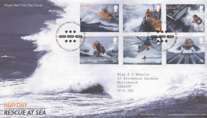 Mayday - Rescue at Sea, Special Handstamp