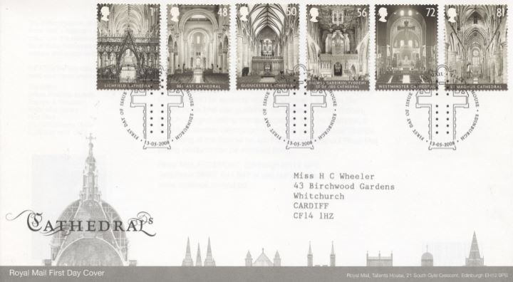 Cathedrals, Special Handstamp