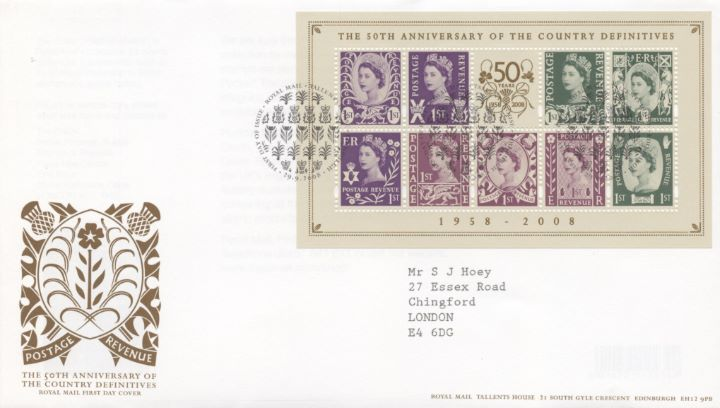 Country Definitives: Miniature Sheet, Special Handstamp