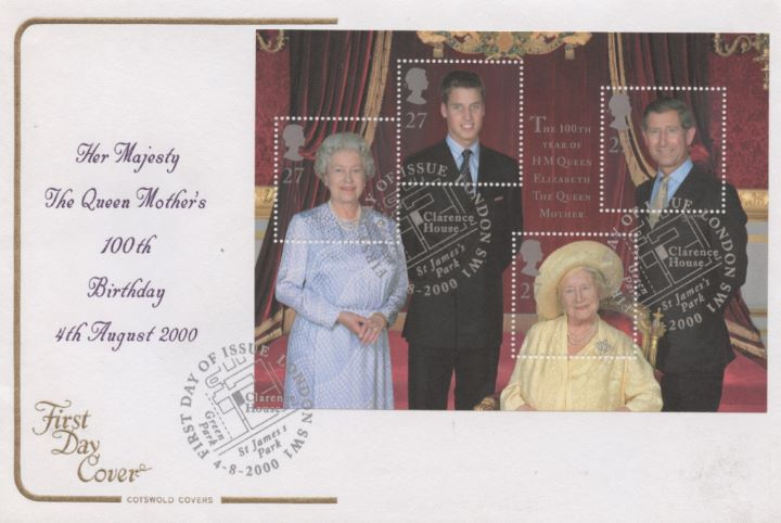 Queen Mother: Miniature Sheet, 100th Birthday