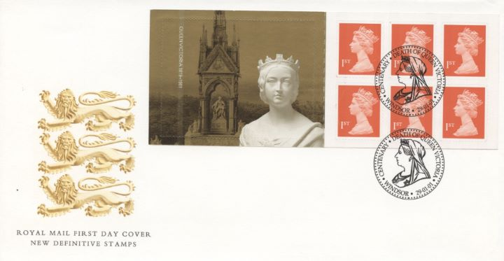Self Adhesive: Queen Victoria, Three Lions