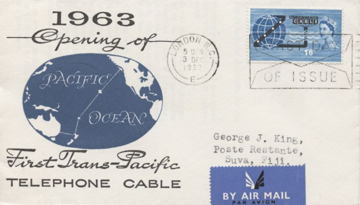Commonwealth Cable, Backstamped in Fiji