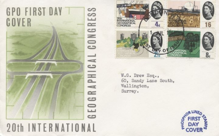 Geographical Congress (Phosphor), GPO FDC