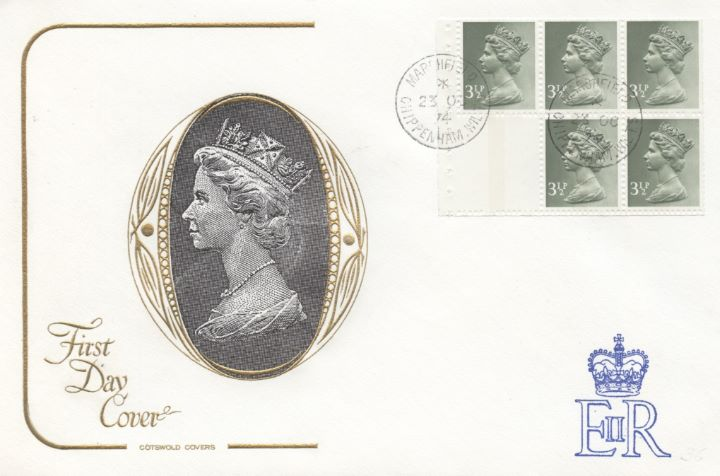 Stitched: New Design: 35p Canada Life, HM The Queen