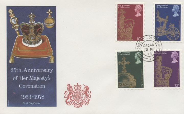 Coronation 25th Anniversary, House of Lords Cachet