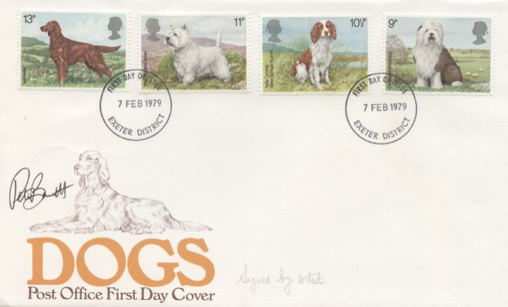 British Dogs, Signed cover