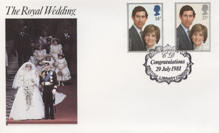 Royal Wedding 1981, British Library Postmark