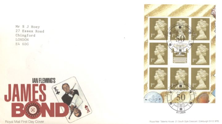 PSB: James Bond - Pane 1, King of Clubs and Hearts