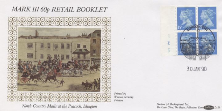 Window: Penny Black Anniversary: 60p, North Country Mails