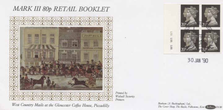 Window: Penny Black Anniversary: 80p, West Country Mails