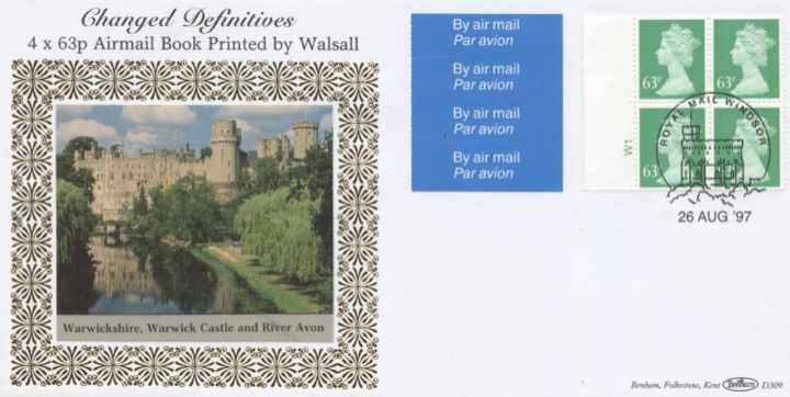 Window: New Contents: Airmail Olympics £2.52, Warwick Castle