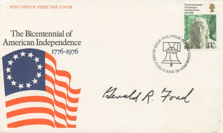 USA Bicentenary: 11p, Signed by Gerald Ford
