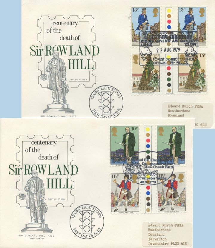 Rowland Hill: Stamps, Traffic Light Gutter Pairs