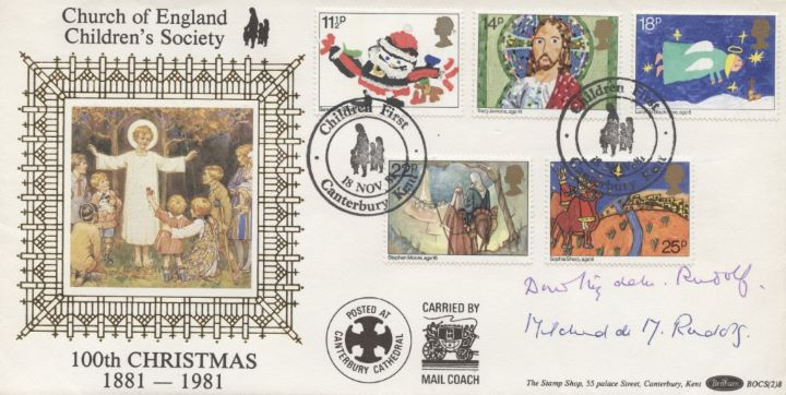 Christmas 1981, 2 Sisters of Founder Signed