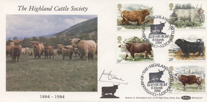 British Cattle, Alec Douglas Home Signed
