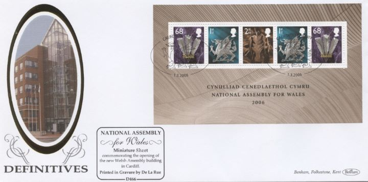 Welsh Assembly: Miniature Sheet, Welsh Assembly