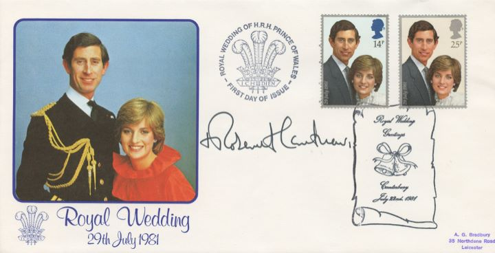 Royal Wedding 1981, Signed by the Archbishop of Canterbury