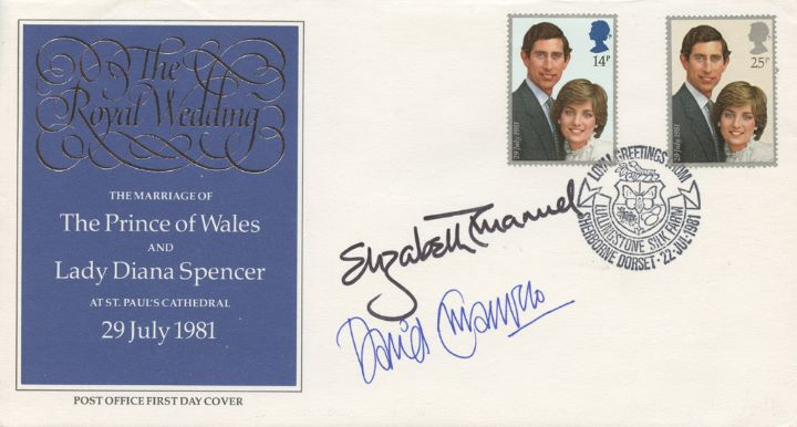 Royal Wedding 1981, Signed by Royal Dress Makers