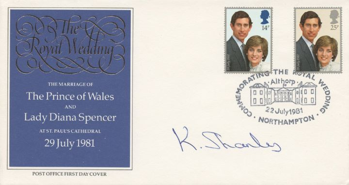 Royal Wedding 1981, Signed by Diana's Hair Dresser