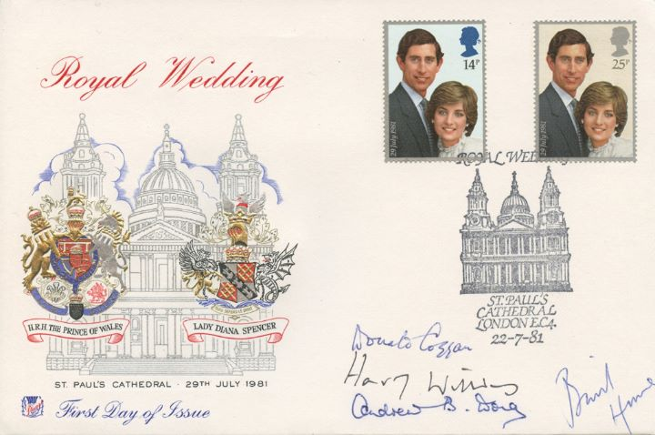 Royal Wedding 1981, Signed by Emminent Religious Persons