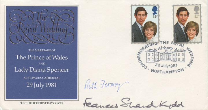 Royal Wedding 1981, Signed by Diana's Mother and Grandmother