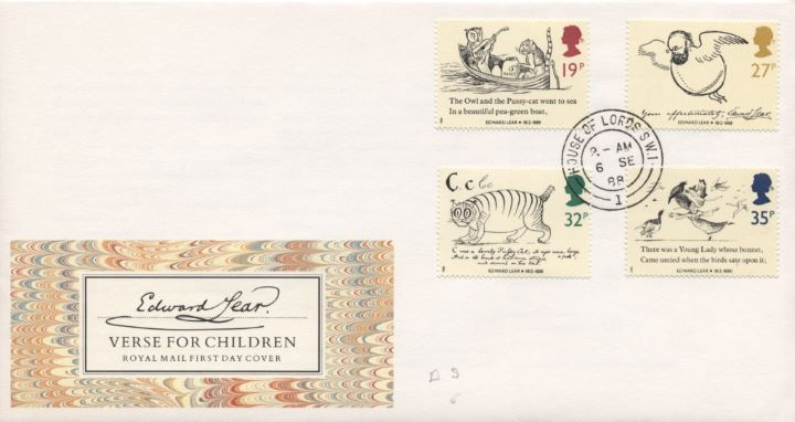 Edward Lear: Stamps, Verse for Children