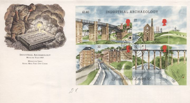 Industrial Archaeology: Miniature Sheet, Museums Year 1989