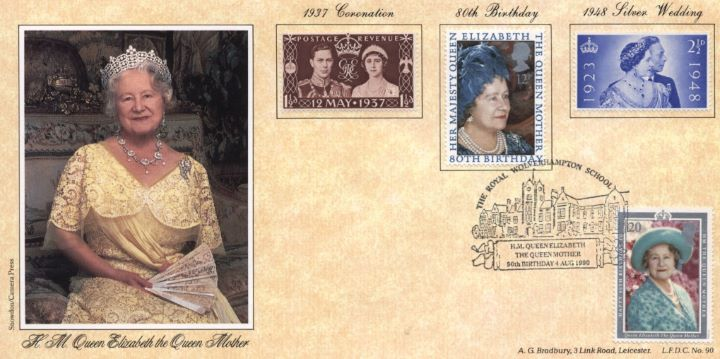 Queen Mother 90th Birthday, Queen Mother on British stamps