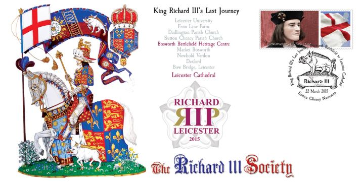 available from 22nd March: limited edition first day covers