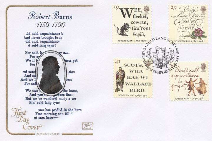 Robert Burns Bicentenary, Silhouette of Burns