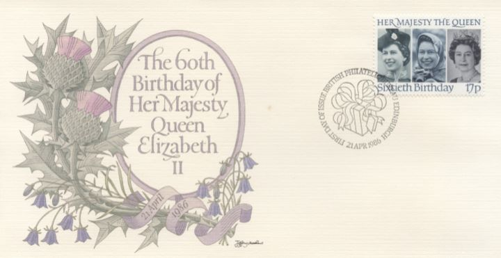 Queen's 60th Birthday, Thistle & Bluebell